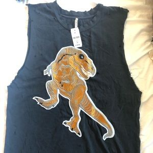 BNWT LF Dinosaur Patch Long Tank
